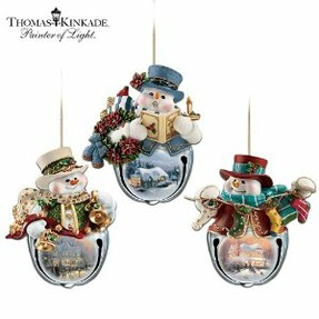 Thomas Kinkade Snowman Ornament