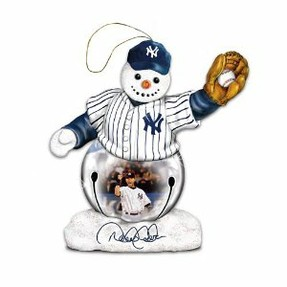 Yankees Snowman Ornament