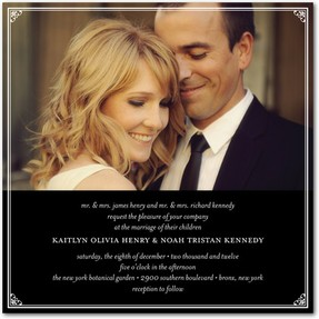 Personalized photo wedding invitation