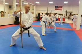 Kobudo and the Bo.  This is Tim Jurgens who studied in Okinawa and now runs his own Dojo in the States.