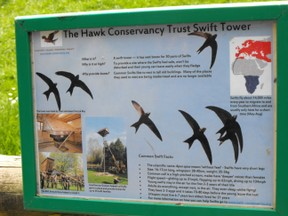 Hawk Conservancy Information Sign