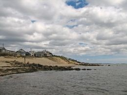 Cottages on Dennisport beach, which is on the south side of the Cape between Hyannis and Chatham.