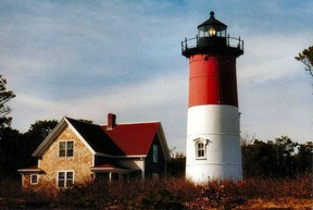 Nauset Light, in Orleans, part of the Cape Cod National Seashore.