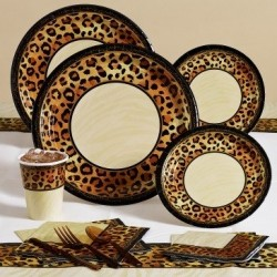 Cheetah Zebra Dinnerware http://wizzley.com/wild-animal-print-party-supplies-decoration-ideas/