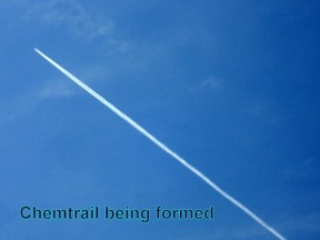 A chemtrail being formed