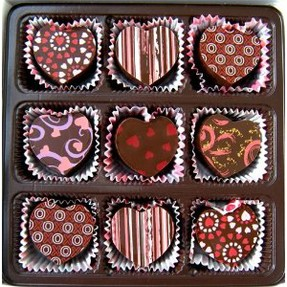 Heart shaped truffles