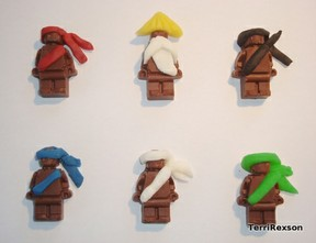 Chocolate Ninjago Ninjas