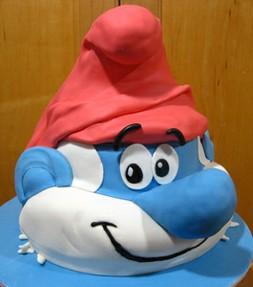 Admirable Smurfs Birthday Cake Cupcakes Ideas Funny Birthday Cards Online Overcheapnameinfo
