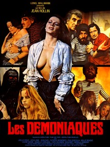 "Jean Rollin's ""Les démoniaques"" - Original French movie poster"