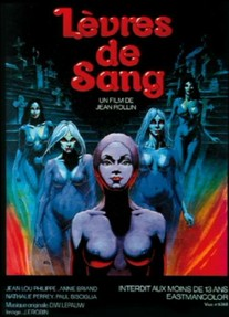 "Jean Rollin's ""Lèvres de sang"" - Original French movie poster by Caza"
