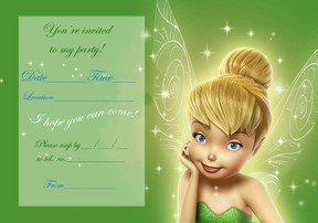 Free Tinkerbell Invitations is best invitation layout