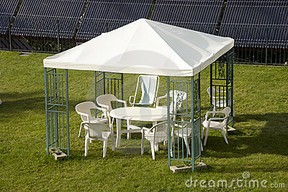 Metal Cloth Canopy Gazebo Outdoor Patio Gazebo Clearance