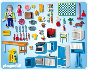 Playmobil grand mansion for Cuisine playmobil