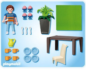 Playmobil grand mansion for Playmobil dining room 5335