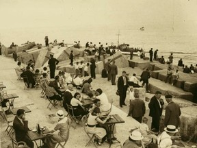 Old picture of Barceloneta
