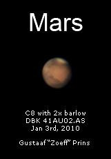 Mars in a cropped image by Zoeff (Gustaaf Prins)
