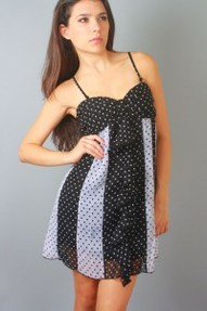 Polka Dot Baby Doll Dress For Juniors