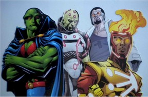 4 DC Comics Superheroes Martian Manhunter, Brainiac, General Zod and Firestorm