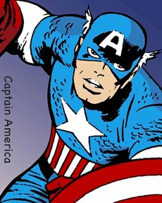 Marvel Comics Superhero Captain America