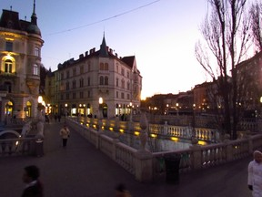 Ljubljana, the Three bridges
