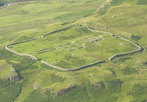 Hardknott Roman Fort from Harter Fell Summit by Nick Upton