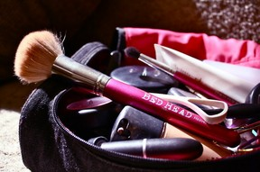 Makeup Brushes in Bag