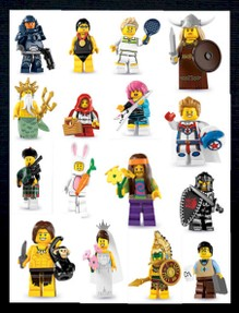 Full collection of 16 Lego minifigures Series 7 characters