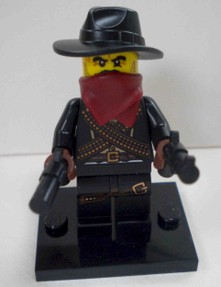 Lego minifigures Series 6 features a cowboy with two guns