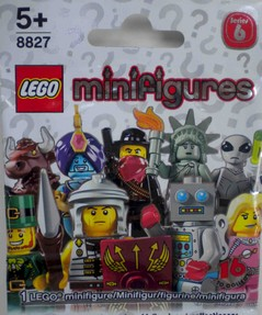Lego minifigures Series 6 mystery pack with Lego codes