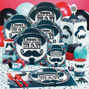 little man mustache party : mustache paper plates - pezcame.com