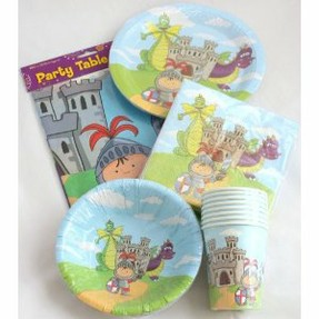 Knights Dragons Party Tableware