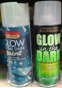 glow in the dark paint is available both in spray cans and in paint. Black Bedroom Furniture Sets. Home Design Ideas