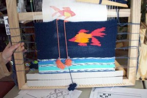 Tapistry on a frame loom