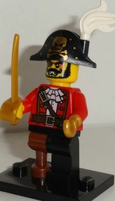 Lego Minifigures Series 8 Pirate Captain