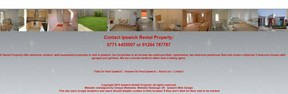 Ipswich rental Property shows the types of properties rented across the top of the footer