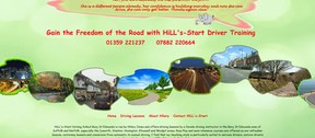 Website footer shows a diverse selection of roads that are accessible once you have passed your test