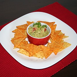 Serve guacamole with tortilla chips