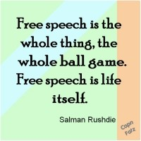 Freespeech is life itself