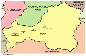 Map of Tuva