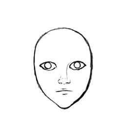 How to draw a face next draw a mouth for your face notice that i drew an upper and lower lip on the mouth ccuart Choice Image
