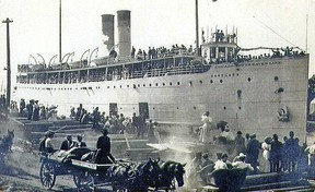 SS Eastland at dock
