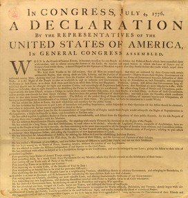 Image: American Declaration of Independence