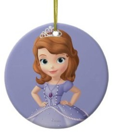 sofia the first ornament