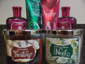 Bath and Body Works holiday items