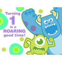Monsters Inc. 1st Birthday Invitations