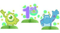 Monsters Inc. 1st Birthday Centerpiece Kit