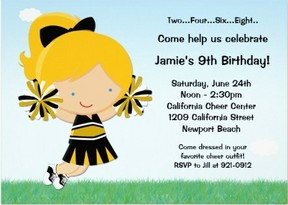 cheerleader invitation