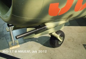 MiG-17 NR-23 23mm cannon