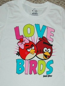 angry birds valentines apparel