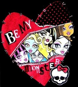 monster high valentine shirt